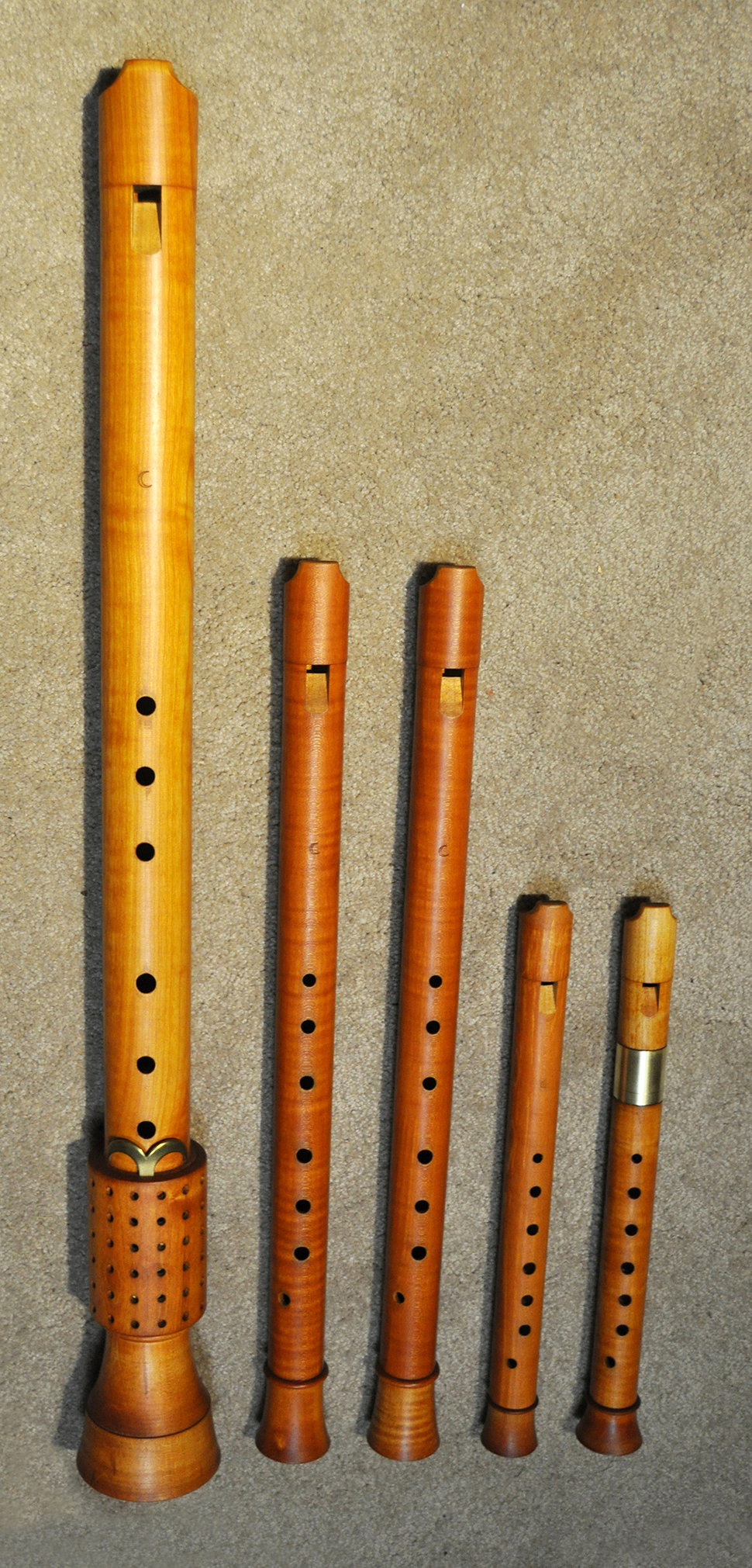 Renaissance Recorder Consort By Adrian Brown After Virdung